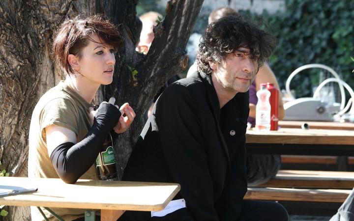 Amanda Palmer and Neil Gaiman at Arena Vienna