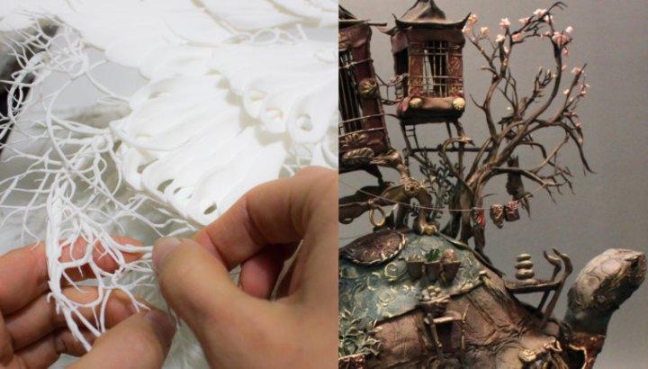 Cada impressão começa com um tipo de escultura. Cada detalhe é moldado individualmente a mão, um pedaço de cada vez