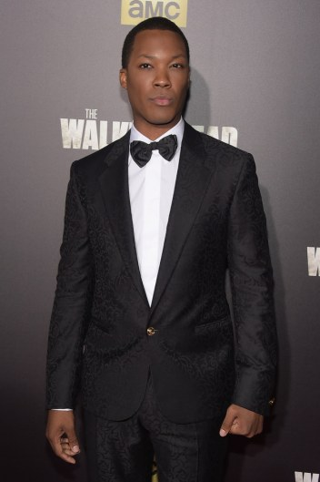 "NEW YORK, NY - OCTOBER 09: Actor Corey Hawkins attends the season six premiere of ""The Walking Dead"" at Madison Square Garden on October 9, 2015 in New York City. (Photo by Theo Wargo/Getty Images)"